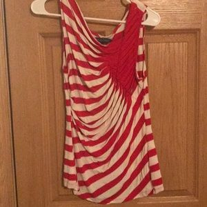 Fun red and white striped tank top